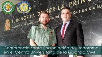Conferencia sobre financiación del terrorismo en el Centro Universitario de la Guardia Civil en Aranjuez (Madrid)
